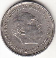 ESPAÑA 1957.(*61)  25 PESETAS.FRANCO  MBC.  CN4371 - [ 5] 1949-… : Kingdom