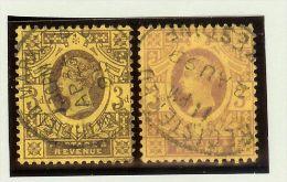 Grossbritannien 1887 Mi # 90a+b Gestempelt - 1840-1901 (Victoria)