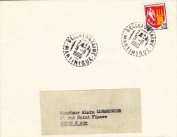 Martinique - Bellefontaine 1966 - Lettre Avec Cachet Tireté Agence Auxiliaire - Martinique (1886-1947)