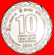 ★11-SIDE FORM: SRI LANKA★  10 RUPEES 2011! UNC! LOW START★ NO RESERVE! - Sri Lanka