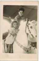 GRAISSESSAC Véritable Photo En Souvenir De La Fête Foraine Année 1950 Enfants Cheval De Bois Manège Ducasse - Andere