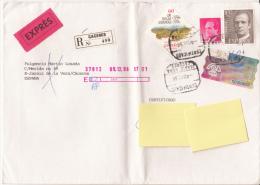 Exprès Registered Mail Certificado Espana Suiza (Vers Suisse, Zürich 1996) - Correo Urgente