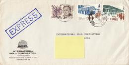 Exprès  Espana Suiza (Vers Suisse, Genève, International Gold Corporation, 1980) - Correo Urgente