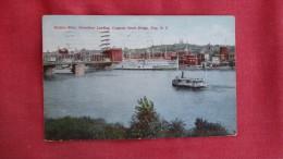 - New York>  Hudson River Steamboat Landing Congress Street Bridge  Troy NY 1854 - New York City