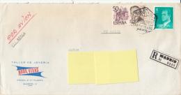 Registered Mail Certificado Suiza (Suisse, Geneva, International Gold Corporation, Taller De Joyeria) - Luftpost