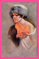 Minois De Parisiennes Par Suz. Meunier - SERIE 61 - N°4 - R.& Cie - Femme Avec Chapeau, Casque ?? - Fantaisie - Meunier, S.