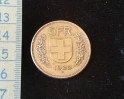 Monnaie 5 Francs Suisse Argent 1932 B - Svizzera