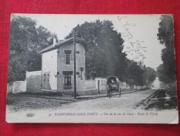 Saint-brice-sous-forêt, Fin De La Rue De Paris Route De Piscop Animée Charette Circulée 1917 - Saint-Brice-sous-Forêt