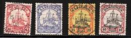 Karolinen, 4 Werte, Zentrisch Gestempelt, Mi. 39.- Luxus ! , # 1705 - Kolonie: Karolinen