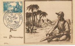 Deux Cartes Journée Du Timbres1943 (pour Nos Prisonniers 451 452) Saint étienne , Carte Numérotée  Beau Document - Poststempel (Briefe)