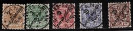 DOA, Nr. 6 Bis 10, Zemtrisch Gestempelt, Mi. 60.-,   # 1714 - Kolonie: Duits Oost-Afrika