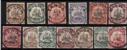 DOA, 13 Werte, Zentrisch Gestempelt, Ca. Mi. 80.- , # 1716 - Kolonie: Duits Oost-Afrika