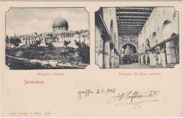 25270g JERUSALEM - Mosquée D'Omar - Mosquée El-Aksa Intérieur  - 1902 - Joseph A. Mitri Editeur - Israel