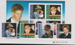 GIBRALTAR - MNH ** 2002 Prince Harry's 18th Birthday Set And Souvenir Sheet. Scott 913-916, 916a - Gibraltar