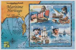 GIBRALTAR - MNH ** 1999 Explorers, Maps, Sailing Ships Souvenir Sheet. Scott 801a - Gibraltar