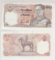 Thailand 10 Baht 1980 Pick 87 Sign60 UNC - Tailandia