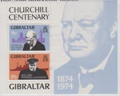 GIBRALTAR - MNH ** 1973 Sir Winston Churchill Souvenir Sheet. Scott 317a - Gibraltar