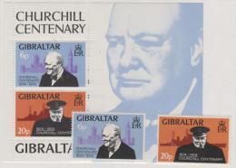 GIBRALTAR - MNH ** 1973 Sir Winston Churchill Set And Souvenir Sheet. Scott 316-317, 317a - Gibraltar