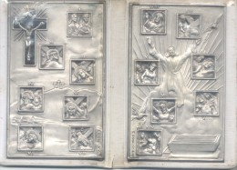 VIA CRUCIS ORIGEN ITALIA CIRCA 1960 RARE CON BAQUELITA CON SU COBERTURA PLASTICA ORIGINAL - Professionnels/De Société