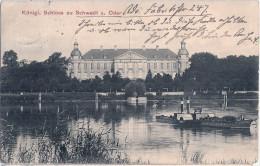 SCHWEDT Oder Königliches Schloß Mit Rad Dampfer EMY 14.7.1912 Datiert Gelaufen - Schwedt