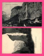 2 Cartes De Lauterbrunnen - Der Staubbach - GABLER - BE Berne
