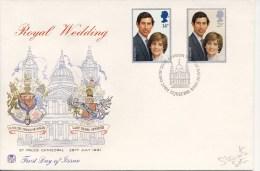 FDC - VK / UK - Koninklijk Huwelijk / Royal Wedding 1981 - 1981-1990 Dezimalausgaben