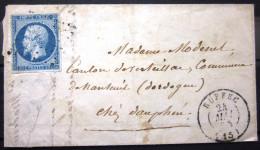 CACHET TYPE 15 + PC 2758  --  RUFFEC  --  CHARENTE  --  LSC  --  1855 - Marcophilie (Lettres)