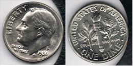 EE.UU.  USA  DIME  DOLLAR  P 1986 - 1946-...: Roosevelt