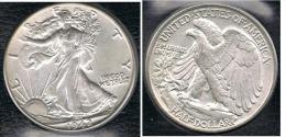 EE.UU.  USA HALF DOLLAR  1942 PLATA SILVER. B1 - EDICIONES FEDERALES