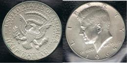 EE.UU.  USA HALF DOLLAR  1965 KENNEDY PLATA SILVER. - Federal Issues