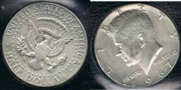 EE.UU.  USA HALF DOLLAR  1967 KENNEDY PLATA SILVER. - EDICIONES FEDERALES