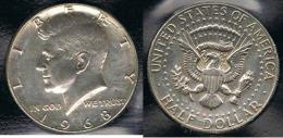 EE.UU.  USA HALF DOLLAR  1968 D KENNEDY PLATA SILVER. - EDICIONES FEDERALES