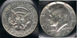 EE.UU.  USA HALF DOLLAR  1969 D KENNEDY PLATA SILVER. - EDICIONES FEDERALES