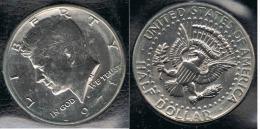 EE.UU.  USA HALF DOLLAR  1971 D KENNEDY PLATA SILVER. - Federal Issues