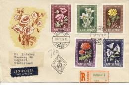 FDC Hongarije 1950 - Met Adres / Open Klep - FDC