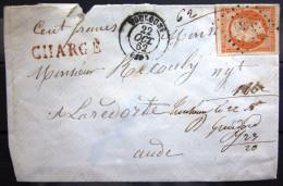 CACHET TYPE 15 + PC 3383 Sur N° 16 + CHARGE   --  TOULOUSE  --  HAUTE GARONNE  --  LSC  --  1862 - 1849-1876: Classic Period