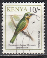 Kenia, 1993 - 10sh Cinnamon-chested Bee-eater - Nr.604 Usato° - Kenia (1963-...)