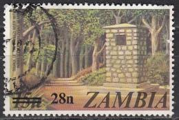 Zambia, 1979 - 28 On 15n Zambezi River Source, Monument - Nr.191 Usato° - Zambia (1965-...)