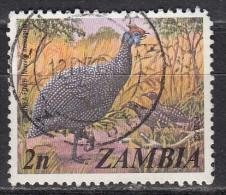 Zambia, 1975 - 2n Guinea Fowl - Nr.136 Usato° - Zambia (1965-...)