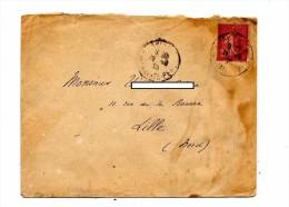 Lettre Cachet ? Sur 75 C Semeuse - Marcophilie (Lettres)