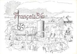 Illustration Cinquin 1983 - Moissonneuse Batteuse Agriculteurs Lors De La Fête De La Moisson - 2 SCANS - Cultivation