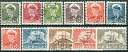 GROENLAND-GREENLAND 1959-60 Frederik IX=Schip En IJsberg Serie GB-USED. - Used Stamps