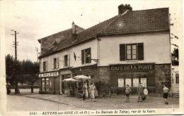 N°42876 -cpa Auvers Sur Oise -le Bureau De Tabac Rue De La Gare- Le Familistère- - Auvers Sur Oise