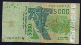 AFRICA DE L' OUEST - 5000 FRANCS CFA - Banconote
