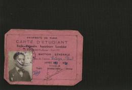 Carte Etudiant Ecole Primaire Supérieure Lavoisier - Diplômes & Bulletins Scolaires