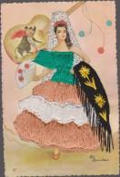 Carte Brodée Danseuse Espagne  ( Elsi ) - Ricamate