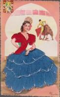 Carte Brodée Danseuse Espagne  Andalucia 57 ( Elsi ) - Ricamate