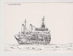 """BAT.L078 - Gravure De MAARTEN GROOT - Cargo """"LENNEBORG"""" Baltik - Boats"""