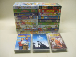 21x K7 CASSETTE VIDEO VHS Secam: Princes Et Princesses, Magic Baskets, L´Incroyable Voyage 2, Oui-Oui, Winnie L´Ourson.. - Collections & Sets