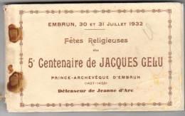 Carnet 39 Cpa (manque 1 Cp) : Embrun, Fêtes Religieuses Du 5ème Centenaire De Jacques Gelu, Défenseur De Jeanne D'Arc - Embrun